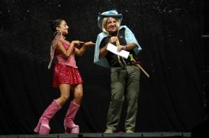 I due comici durante l'esibizione
